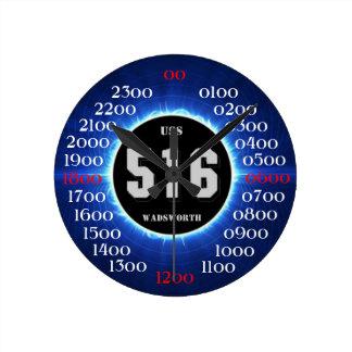 USS Wadsworth (DD-516) Reloj Redondo Mediano