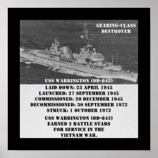 USS Warrington (DD-843) Impresiones