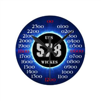 USS Wickes (DD-578) Reloj Redondo Mediano