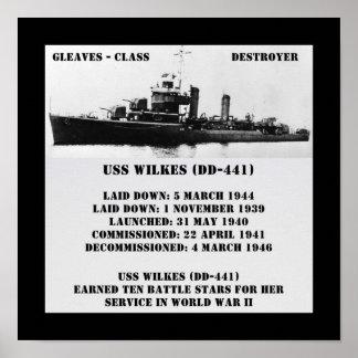USS Wilkes (DD-441) Impresiones