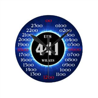 USS Wilkes (DD-441) Reloj Redondo Mediano