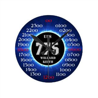 USS Willard Keith (DD-775) Reloj Redondo Mediano
