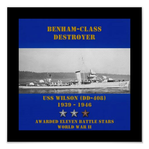 USS Wilson (DD-408) Poster