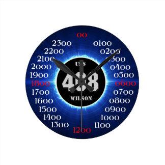 USS Wilson (DD-408) Reloj Redondo Mediano