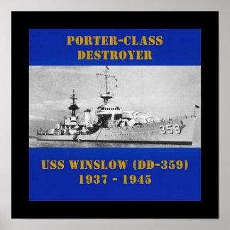 USS Winslow (DD-359) Posters