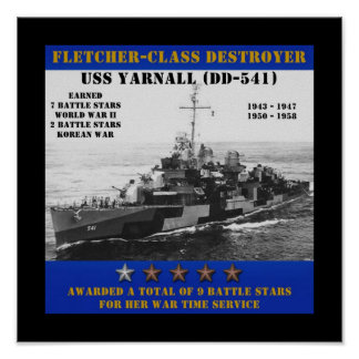 USS Yarnall (DD-541) Posters