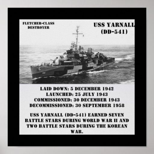USS Yarnall (DD-541) Impresiones