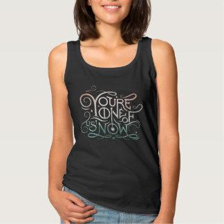 Usted ahora es uno de nosotros gráfico colorido camiseta con tirantes