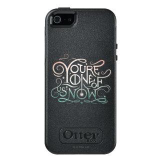 Usted ahora es uno de nosotros gráfico colorido funda otterbox para iPhone 5/5s/SE