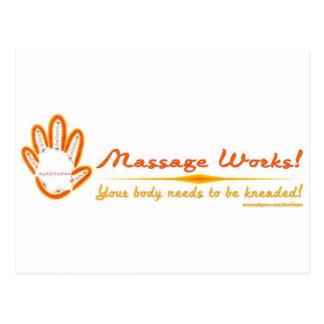 ¡Usted amasa un masaje Tarjeta Postal