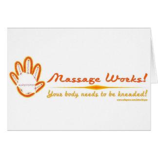 ¡Usted amasa un masaje! Tarjeton