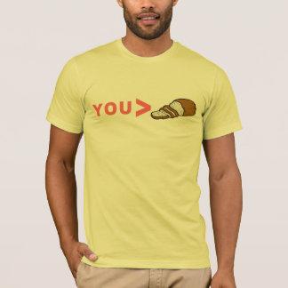 Usted camiseta divertida mayor que cortada del pan