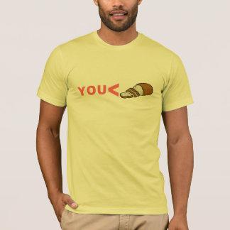 Usted camiseta divertida menos que cortada del pan