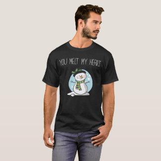 Usted derrite a mi novia del novio del invierno camiseta