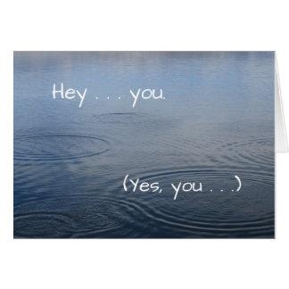 Usted diferencia (gracias) - tarjeta de