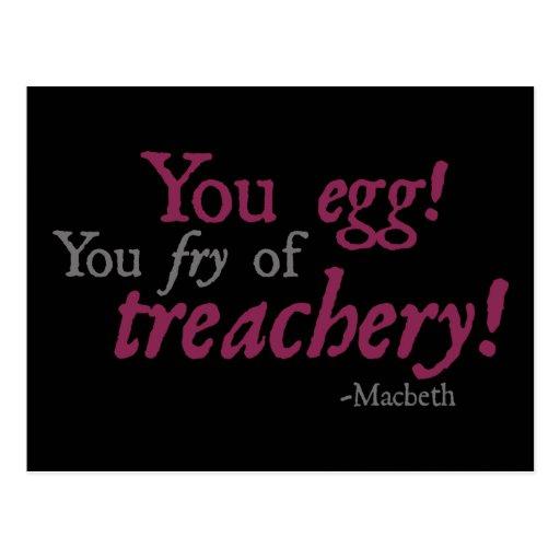¡Usted Egg!  ¡Usted fritada de la traición! Postales