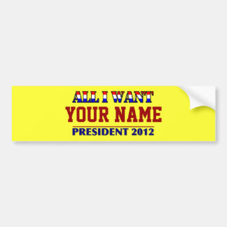 Usted elige al presidente - etiqueta conocida de 2 etiqueta de parachoque