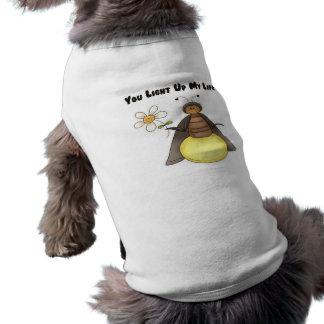 Usted enciende para arriba mi vida ropa de mascota