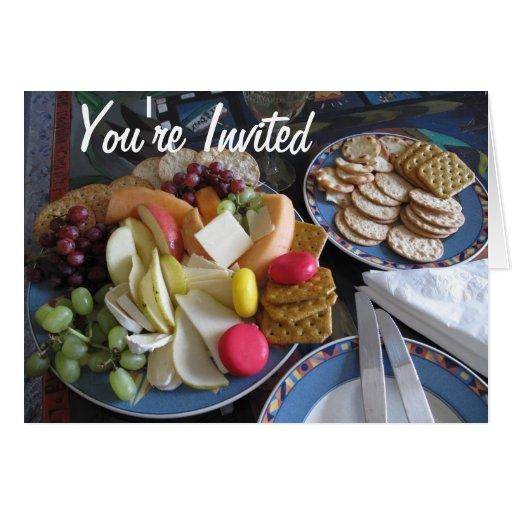 Usted es almuerzo invitado tarjetas