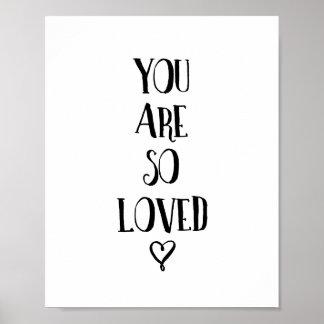 Usted es así que cita amada del amor de la póster