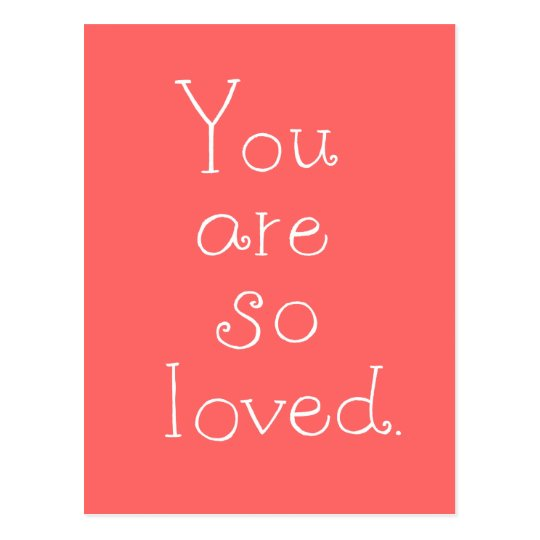 Usted es así que postal simple amada del amor de