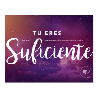 Usted es bastante (español) postal inspirada
