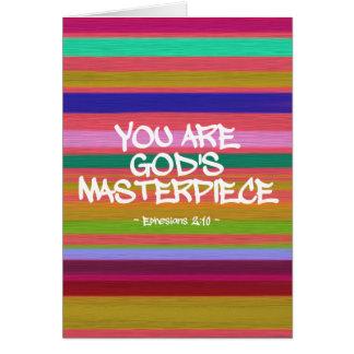 Usted es cita de Ephesians de la obra maestra de Tarjeta De Felicitación