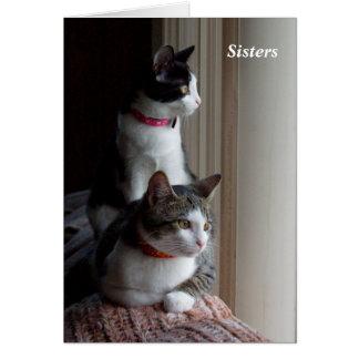 Usted es como una hermana a mí tarjeta