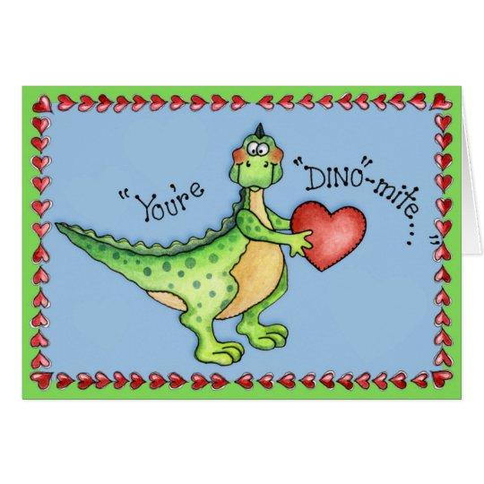 Usted es Dino-ácaro - tarjeta de felicitación