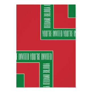 """""""Usted es"""" la esquina invitada del color Invitación 12,7 X 17,8 Cm"""