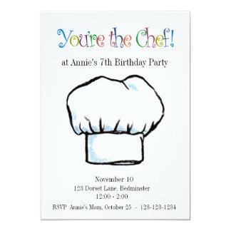Usted es la invitación del cocinero invitación 12,7 x 17,8 cm