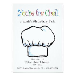 Usted es la invitación del cocinero invitación 13,9 x 19,0 cm