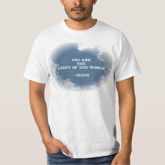 Usted es la luz del mundo camiseta