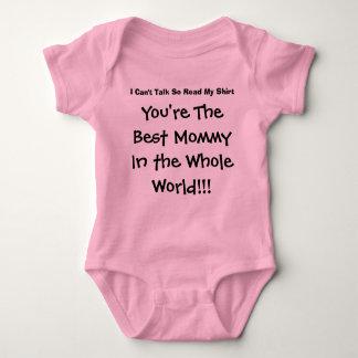 Usted es la mejor mamá del mundo entero body para bebé