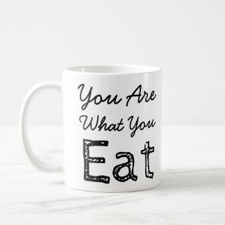Usted es lo que usted come la taza de café