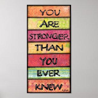 Usted es más fuerte - arte inspirado de motivación