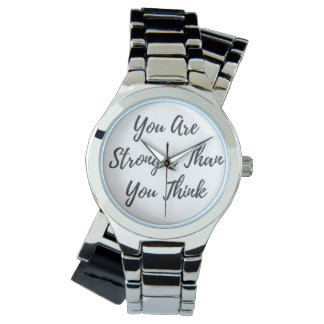 Usted es más fuerte que usted piensa el reloj de