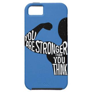 Usted es más fuerte que usted piensa funda para iPhone SE/5/5s
