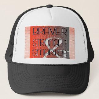 Usted es más valiente cree que más fuerte parezca gorra de camionero