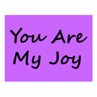 Usted es mi alegría postal