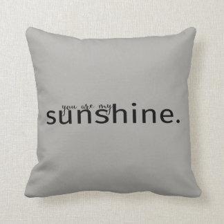 Usted es mi almohada gris de la tipografía de la