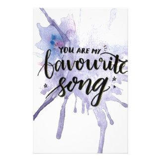 Usted es mi canción preferida papelería