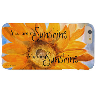 Usted es mi caso del iPhone del arte del girasol Funda Barely There iPhone 6 Plus