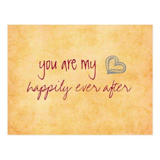Usted es mi feliz siempre después postal
