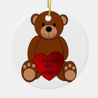 Usted es mi ornamento del oso del corazón