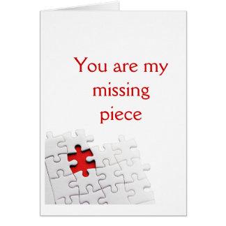 Usted es mi pedazo que falta tarjeta