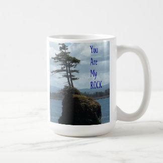 Usted es mi roca taza de café