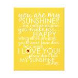 Usted es mi sol - amarillo - lona envuelta lona estirada galerías