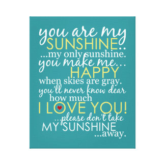 Usted es mi sol - trullo - lona envuelta lienzo