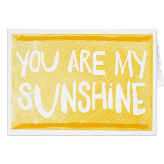 Usted es mi tarjeta de felicitación de la sol el |